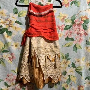 Disney Moana Costume Dress NWT